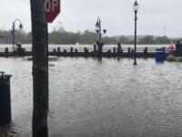 Imagini neobișnuite. Uraganul Florence a făcut ca un râu să curgă invers. VIDEO