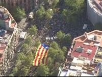 Aproape un milion de catalani au ieşit în stradă în Barcelona pentru a cere independenţa