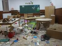 Trei băieți de 8, 9 și 10 ani au distrus o școală din Clejani. Explicația celor 3