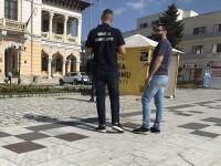 Corturi de campanie vandalizate la Buzău. Desenele apărute pe un banner cu Dăncilă