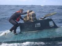 Cocaină de 165 de mil. €, găsită într-un submarin. De ce a aruncat Garda de Coastă 500 kg