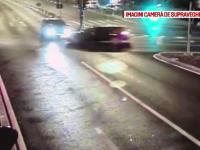 Un şofer imprudent a provocat un accident la Timişoara. Impactul, surprins de camere