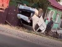 Val de accidente pe șoselele din Dâmboviţa. Cinci oameni, dintre care doi copii, au ajuns la spital