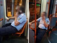 Jandarm din Ialomița sancționat de șefii săi pentru că nu purta mască în tramvai la București