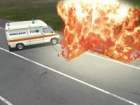 ANIMAŢIE GRAFICĂ. Un asistent medical și un muncitor au murit într-un accident cu 3 mașini