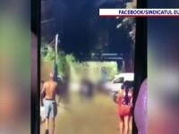 Scene de violență extremă în Rahova. Un bărbat a fost bătut crunt, după ce a lovit o femeie