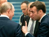 Macron îi cere explicații lui Putin, cu privire la otrăvirea lui Navalnîi. Reacția președintelui rus