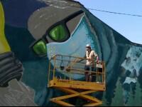 Doi artiști stradali pictează cu grafitti zidurile spitalului de boli infecțioase din Iași. Aduc o speranță bolnavilor