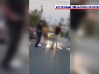 Bătaie cu lopeți și bâte în fața unui bar din Tulcea. Un bărbat a ajuns la spital