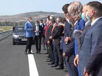 Iohannis, la deschiderea unui nou tronson de 18 km de autostradă: