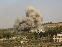 Avioane rusești au bombardat nord-vestul Siriei. Este cel mai amplu atac din ultimele 6 luni