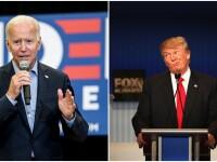 Alegeri SUA 2020. Confruntare televizată, pe canale diferite, între Donald Trump și Joe Biden