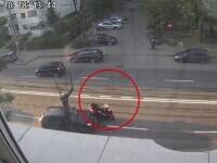 Reglare de conturi în trafic la Iași. O şoferiţă a lovit intenționat un motociclist și l-a proiectat în altă maşină