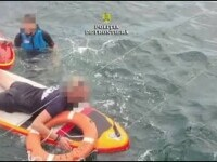 Șapte turiști din Olimp au cerut ajutor după ce au ajuns în largul mării, din cauza curenților