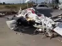 O tornadă a făcut ravagii în Italia. Șapte avioane au fost distruse. VIDEO