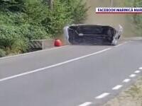 Filmul accidentului de la Campionatul Național de Viteză. Cum a scăpat cu viață pilotul în mașina care zbura cu 162 km/h