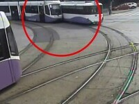 Două tramvaie s-au ciocnit, în Timișoara. Vina a fost a unuia dintre vatmani