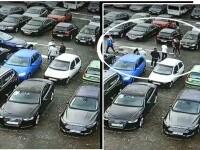 Bătaie pentru un loc de parcare! Imagini șocante de pe camerele de supraveghere