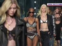 Noua colecție Dolce & Gabbana, prezentată la Săptămâna Modei de la Milano