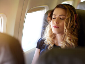 pasagera in avion