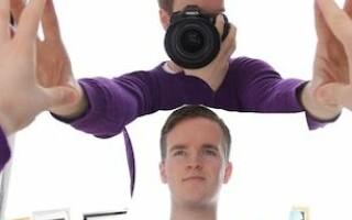 fotograf in oglinda