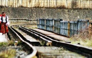 cale ferata, tigani