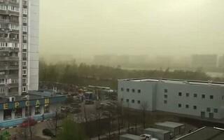 nor verde deasupra Moscovei