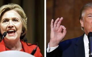 Hillary Clinton (L), Donald Trump (R)