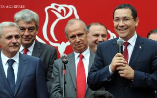 Victor Ponta la un miting electoral in Braila