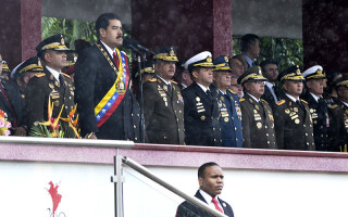 Nicolas Maduro, presedintele Venezuelei, la parada de ziua independentei