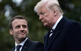 Donald Trump si Emmanuel Macron