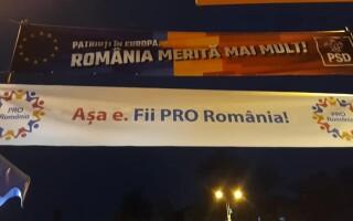 bannere PSD, Pro Romania
