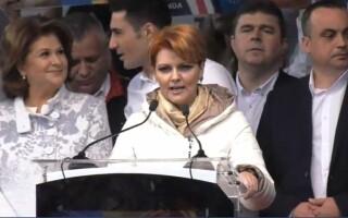 Lia Olguta Vasilescu, la mitingul PSD de la Craiova