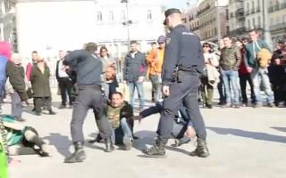 bataie, tigani, madrid, politie, Puerta del Sol