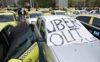 Protest al taximetriștilor în Piața Victoriei - 2
