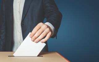 buletin de vot, urna de vot, votare