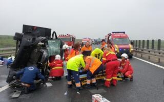 Accident pe autostrada A1