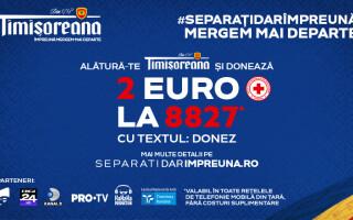 Timișoreana dă startul ințiativei naționale de strângere de fonduri #separațidarîmpreună, alături de Crucea Roșie Română