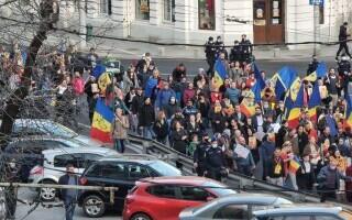 """Protest al simpatizanților AUR în Piața Universității împotriva restricțiilor. George Simion, fără mască: """"Guvern criminal"""""""