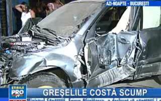 Automobilul implicat în accident a suferit avarii serioase