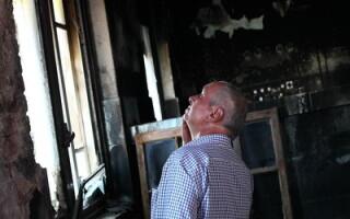 Imagini din salonul incendiat al maternitatii Giulesti