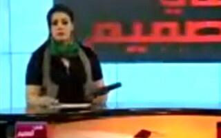Prezentatoare din Libia, inarmata