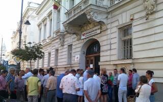 protest Finante, Arad