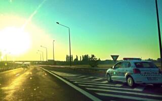 masina de politie pe Autostrada Soarelui