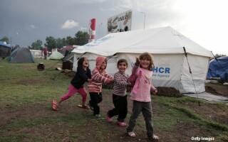 copii in tabara de refugiati