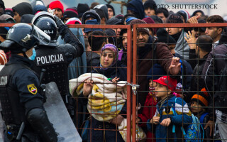 busculada intre migranti si politie in SLovenia