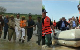 Inundatii India si Romania
