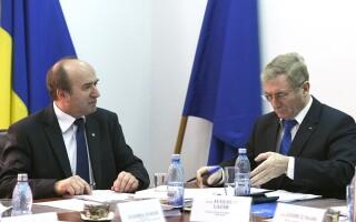 Tudorel Toader (stg.), ministrul Justitiei, si Augustin Lazar (dr.), procurorul General al Romaniei