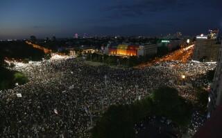 Protest in Piata Victoriei, 10 august