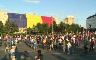 Protest in Piata Victoriei sambata
